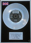 "ROY ORBISON  - 7"" Platinum Disc - IT'S OVER"